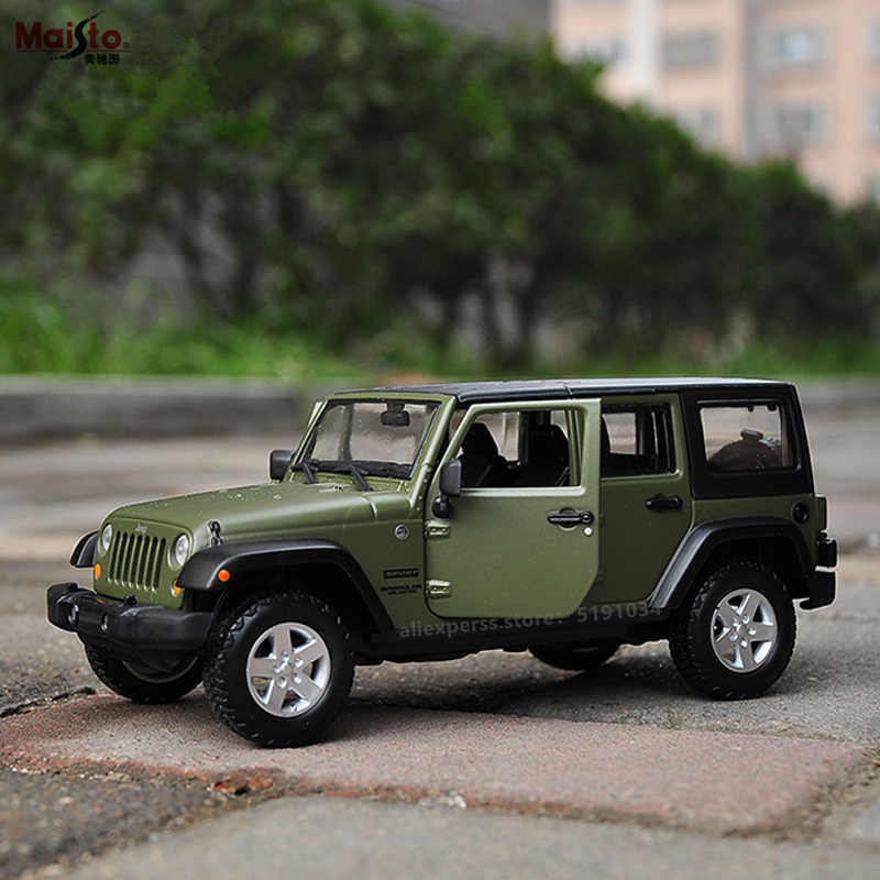 Maisto 1:24 2015JEEP Jeep Wrangler Racing Convertible legering model auto simulatie auto decoratie collection gift toy