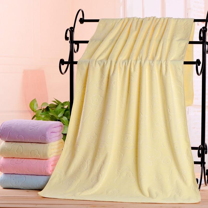 M 300 gramos 70*140 gruesa suave absorbente fibra Superfina bebé adulto Toalla de baño grande no se desvanece rosa claro Ebay