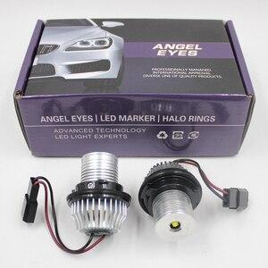 Image 1 - FSYLX 10 واط 6000K led عيون الملاك لسيارات bmw e60 LED مصباح تحديد أبعاد المركبة هالو خواتم لسيارات BMW E39 E53 E65 E66 E60 E61 E63 E64 E87 تصفيف السيارة
