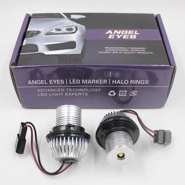 FSYLX 10 واط 6000K led عيون الملاك لسيارات bmw e60 LED مصباح تحديد أبعاد المركبة هالو خواتم لسيارات BMW E39 E53 E65 E66 E60 E61 E63 E64 E87 تصفيف السيارة