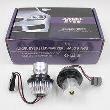 FSYLX 10W 6000K led Angel Eyes dla bmw e60 obrysówki LED światła Halo pierścienie dla BMW E39 E53 E65 E66 E60 E61 E63 E64 E87 car styling