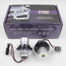 FSYLX 10W 6000K led melek gözler bmw e60 LED işaretleyici ışıkları Halo yüzükler BMW E39 E53 e65 E66 E60 E61 E63 E64 E87 araba styling
