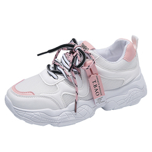 YeddaMavis Shoes Pink Daddy Women Sneakers New Wild Lace Up Woman Trainers  Zapatos De Mujer