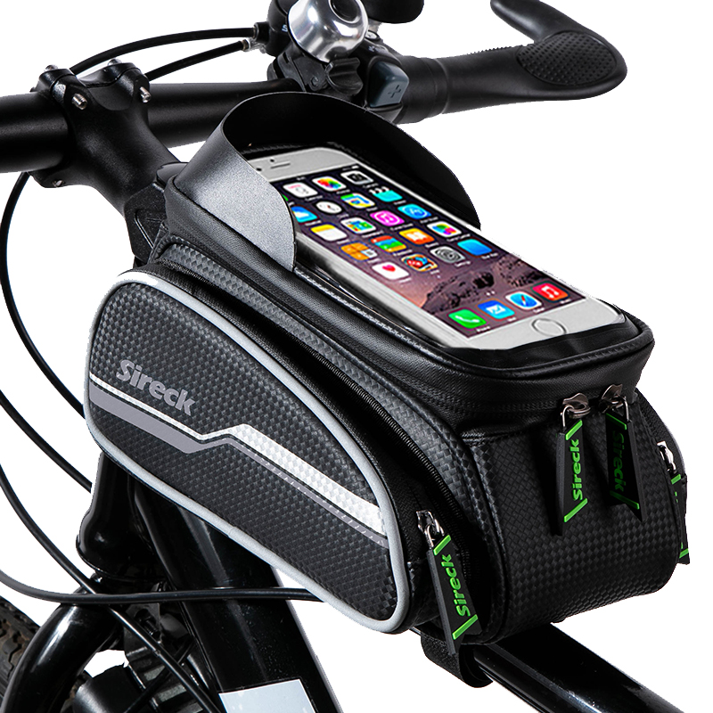 Велосипедная сумка Sireck, нейлоновая непромокаемая велосипедная сумка с сенсорным экраном 6,0, чехол для телефона велосипеда, велосипедная пе...