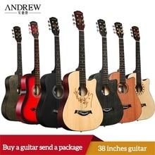 Эндрюс 38 дюймов классический цвет липа Классическая акустическая гитара