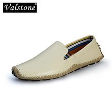 Loafers Driving-Shoes Casual Flats Classic Non-Slip Male Breathable Big-Size Valstone