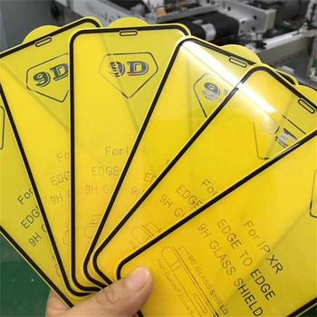 Wholesale 100pcs/lot 9D Full Glue Full Cover Tempered Glass Screen Protector for iPhone 11 Pro Max  XS 8 7 Plus