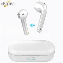 KISSCASE TWS наушники для Xiaomi mi Redmi Airdots, Bluetooth 5,0, Беспроводные стереонаушники с шумоподавлением и микрофоном, свободные руки