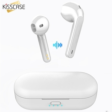 KISSCASE dla Xiao mi mi Red mi Airdots TWS Bluetooth 5.0 słuchawki Stereo bezprzewodowa redukcja szumów z mi c zestaw głośnomówiący z słuchawkami
