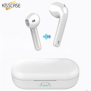 Image 1 - Kisscase Voor Xiao Mi Mi Rode Mi Airdots Tws Bluetooth 5.0 Oortelefoon Stereo Draadloze Ruisonderdrukking Met Mi C Handsfree oordopjes