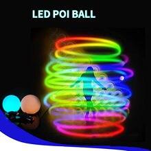 Zabawki dla dzieci LED Poi Balls (zestaw 2 sztuk) spinningowa zabawka ze światłem LED z 9 trybem zmiana koloru zabawki dla dzieci # L4