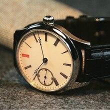 40mm GEERVO Enamel White dial Asian 6497 17 jewels movement Men's watch Mechanic