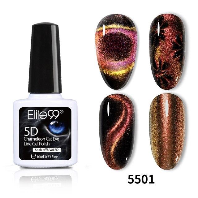 Elite99 10ml Nail art 9D Chameleon Katze Auge Nagel Gel Magnet Tränken Weg Vom UV Gel Nagellack Glänzende Gel uv-lacke Schwarz Basis Benötigen