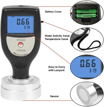 VTS-60A Pocket Type Digital Water Activity Test Tools Food Water Activity Meter Analyzer for Beef Jerky Fruit Jerky Tester фото