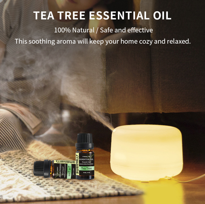 10ml Essential Oil Natural Plant Aromatherapy Relaxing Fragrance Tea Tree Essential Oils for Home Air Humidifier Freshener 1