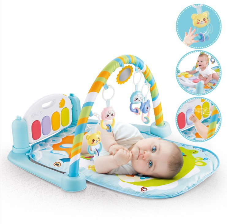 2019 New Style Infant Harmonium Fitness Rack Infant 0-3-6-8 Month Baby Educational Game Blanket