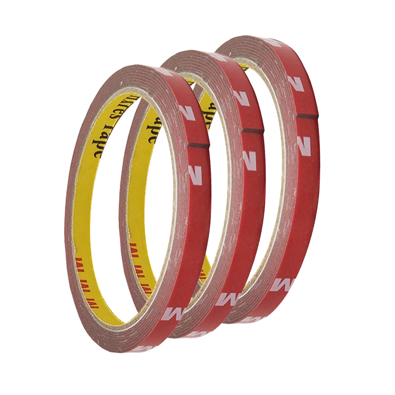 High Viscosity Double-sided Tape Adhesive Tape Super Sticky Tape With Red Liner Strong double-sided tape 6/8/10/15/20mm(3m Long)