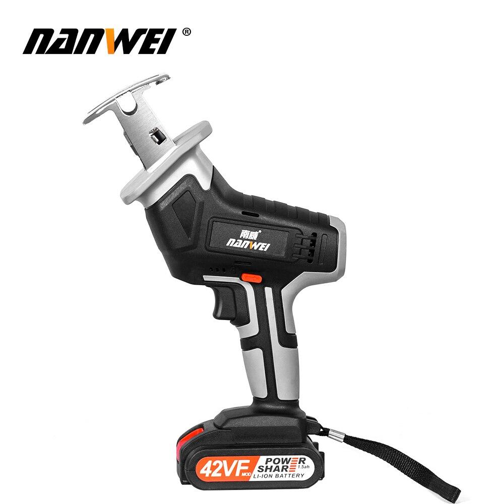 Tools : NANWEI Reciprocating Saw Cordless Reciprocating Saw Sabre Saw