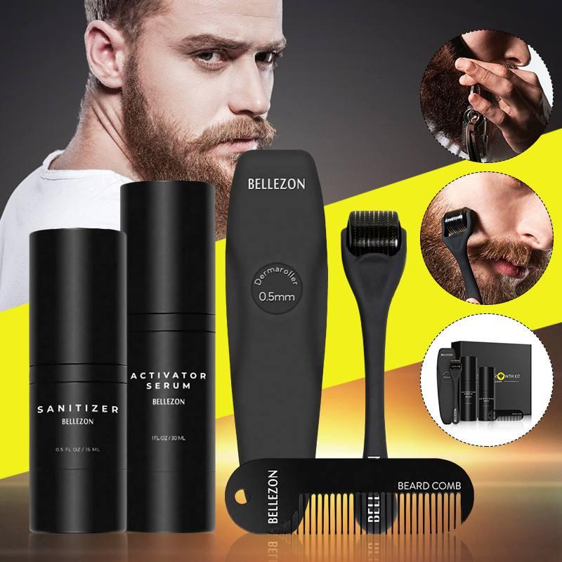 4 pçs crescimento da barba óleo barba