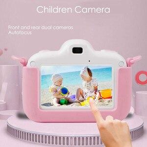 Image 4 - Детская камера Full HD Цифровая камера для детей 3,0 дюймов сенсорный экран дисплей детские игрушки камера для Рождественский подарок
