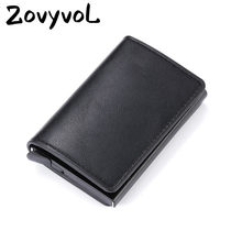 2020 Smart Wallet Bussiness Card Holder Hasp Rfid Wallet Aluminum Metal Credit Busines Mini Card Wallet Dropshipping Man Women(China)