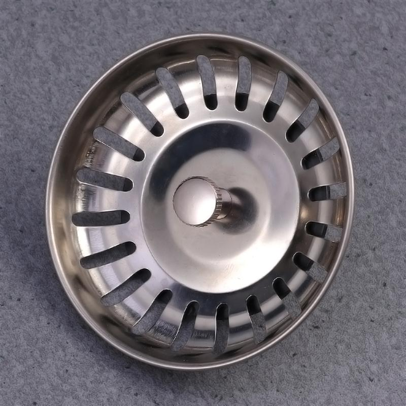 Sewer Filter Cover Sink Drain Cover Bathroom Drain Deodorant Plug Floor Drain Strainer Silver