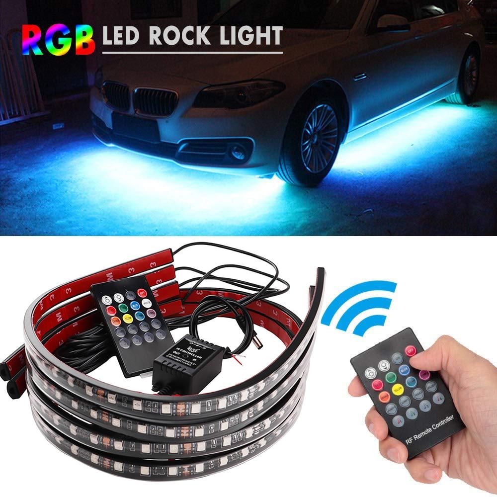 Автомобиль Underglow гибкие светодиодные ленты светодиодный RGB Underglow украшение, атмосферная лампа (в том числе от приложений дистанционного Упр...