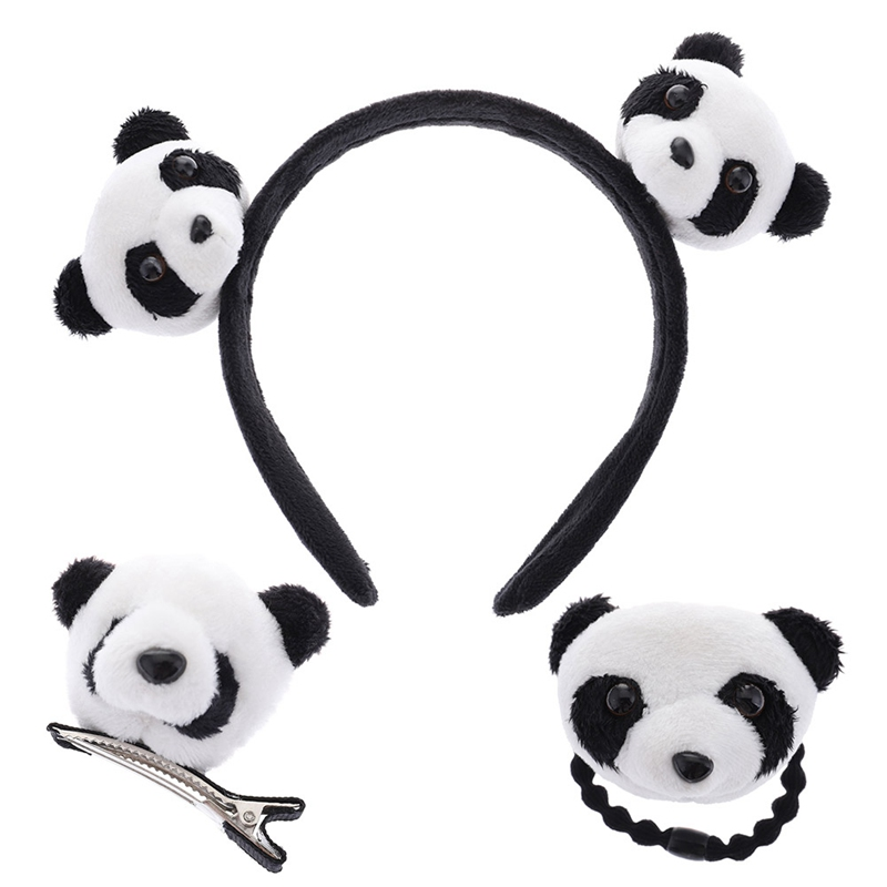 New Little Plush Toys For Hair Band  Hair Tie Kid's Party Gift Panda Plush Stuffed Toys