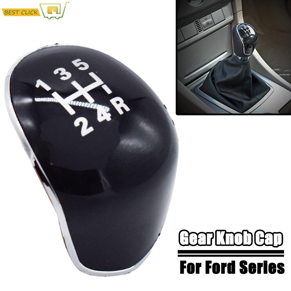 5 скоростей, ручная ручка переключения передач, крышка, эмблема для Ford Focus 2005 - 2011 C-Max Fiesta Kuga, аксессуары для стайлинга автомобилей
