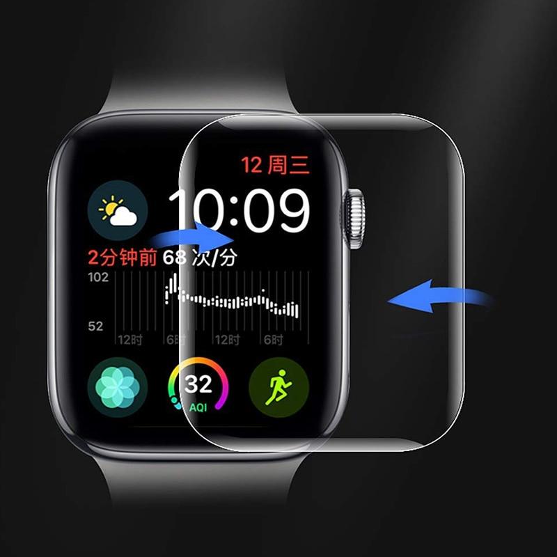 Полная изогнутая Прозрачная мягкая пленка для Apple watch серии 6 SE 5 4 3, защита экрана, не закаленное стекло для iWatch 44, защитный чехол