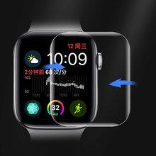 Полностью изогнутое мягкое стекло для Apple watch 42 мм 40 мм 42 мм 38 мм, Защита экрана для iWatch серии 6 SE 5 4 3, защитная пленка