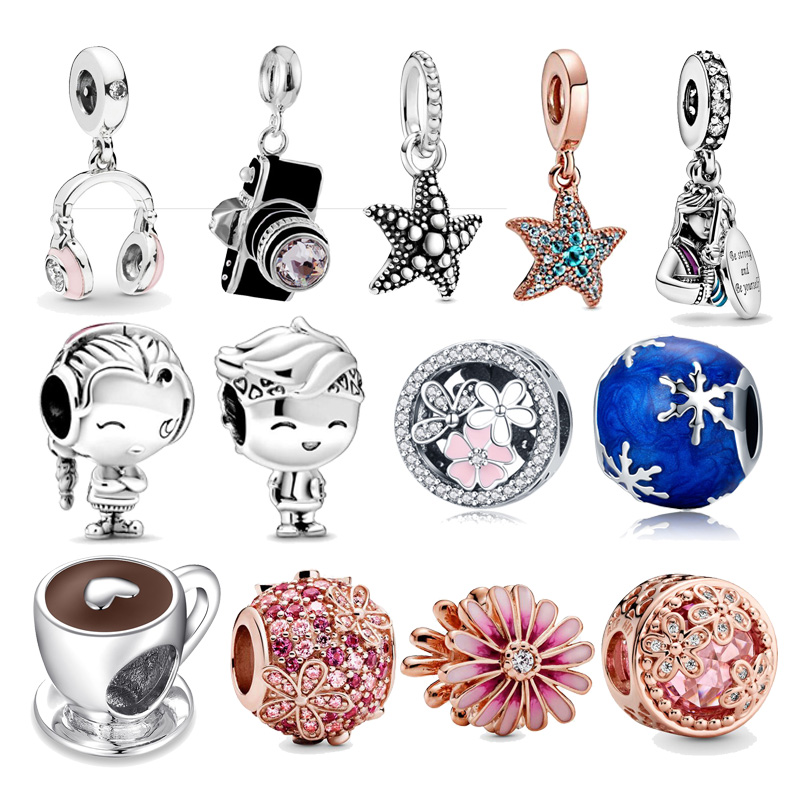 CodeDog Gennuie 925 Sterling Silver Dreamcatcher Charms Fit Original 3mm Bracelet Beads DIY Jewelry For Women CMC723