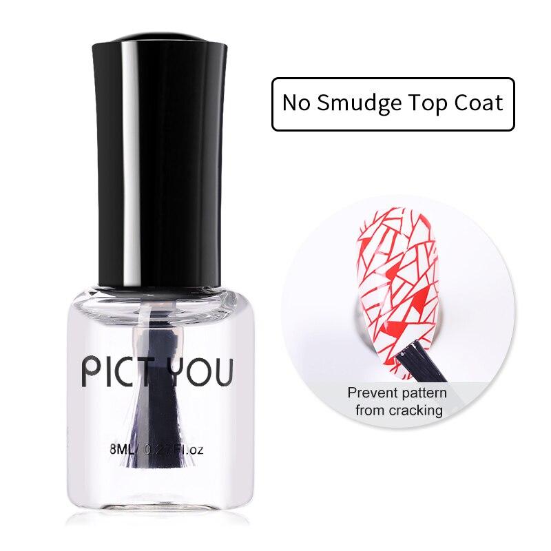 Pict You 8 мл без пятен верхнее покрытие для маникюра масло для дизайна ногтей штамповка лак с принтом протектор для дизайна ногтей штамповка лак для ногтей|Лак для ногтей|   | АлиЭкспресс