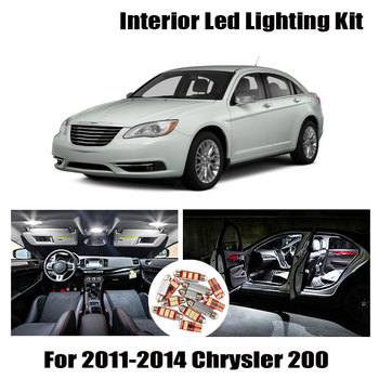 9 Bulbs White Canbus Interior LED Car Light Kit Fit For Chrysler 200 2011 2012 2013 2014 Map Dome Cargo License Lamp No Error 1