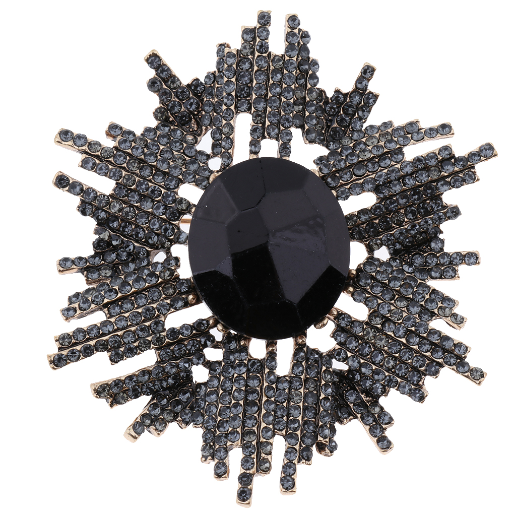 Rhinestone Brooch Pins Scarf Hats Suits Decoration Metal Brooch Pendant Vintage Brooch Accessories for Both Men and Women in Shoe Decorations from Shoes