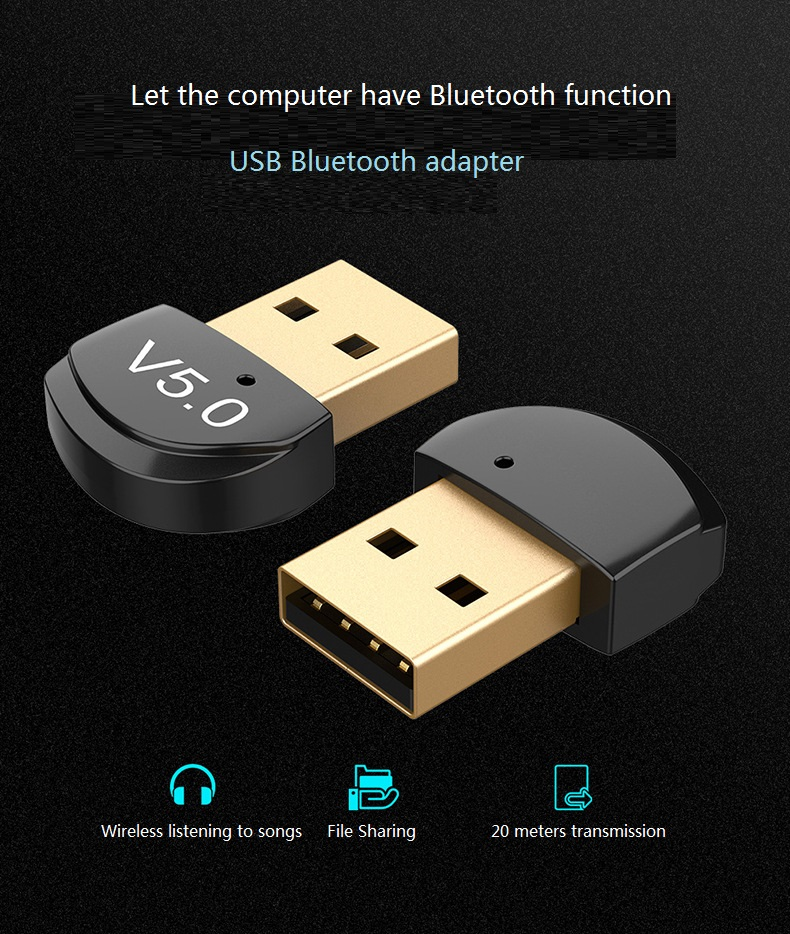USB Bluetooth Dongle Adapter 4.0 For PC Computer Speaker Wireless Mouse Bluetooth Music Audio Receiver Transmitter