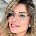 Новинка 2020, дизайнерские женские очки, оптические рамки, металлические очки в форме бабочки, оправа, прозрачные линзы, очки, очки