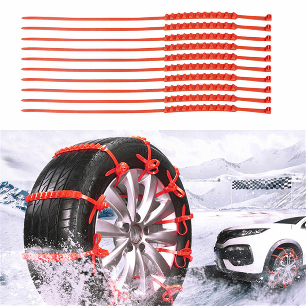 10pcs Lot Snow Tire Chain Car Mini Tyres wheels For Cars/Suv Car-Styling Anti-Skid Emergency Winter Driving Spikes Car Tires