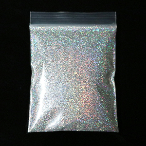 10G Extra Fine Holographic Nail Glitter Powder Laser Gold Silver Sparkly Sequins Dust Polish Manicure Nail Art Decorations 0.2mm