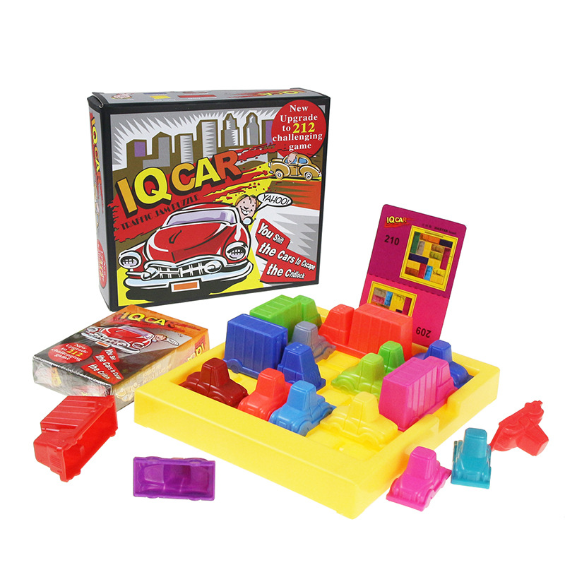 Racing Break IQ Car Game Car Puzzle Toys Creative Plastic Rush Hour Logic Game Developmental Game Toys For Children Gifts