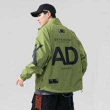 2020 outono jaqueta masculina moda streetwear com capuz estilo coreano dos homens bombardeiro jaqueta casaco primavera wear hip-hop pano masculino na moda novo