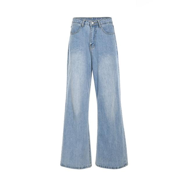 Ladies Straight Leg Baggy Jeans 5