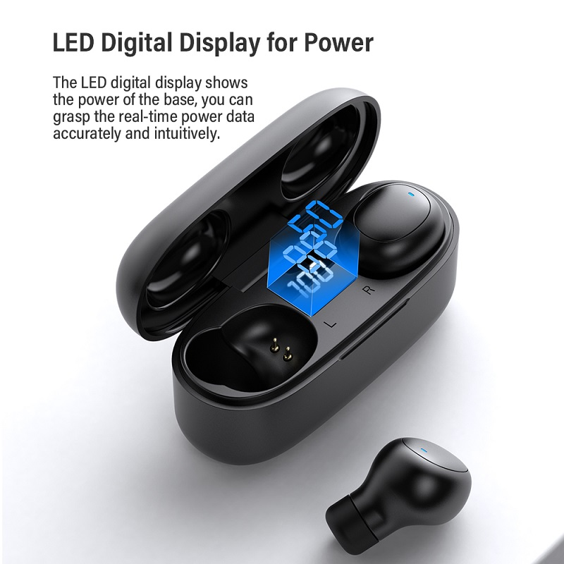 Image 3 - TOPK Mini Bluetooth Earphone HD Stereo Wireless Headphones gaming In ear sport headset With Mic Charging Box for smartphoneBluetooth Earphones & Headphones   -