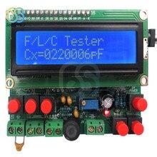 Lcd digital secohmmeter capacitância indutância medidor de freqüência cymometer cf indutor capacitor tester permittímetro kit diy