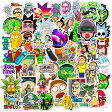 10 30 50pcs Cartoon Rick And Morty Stickers Waterproof Skateboard Travel Suitcase font b Phone b