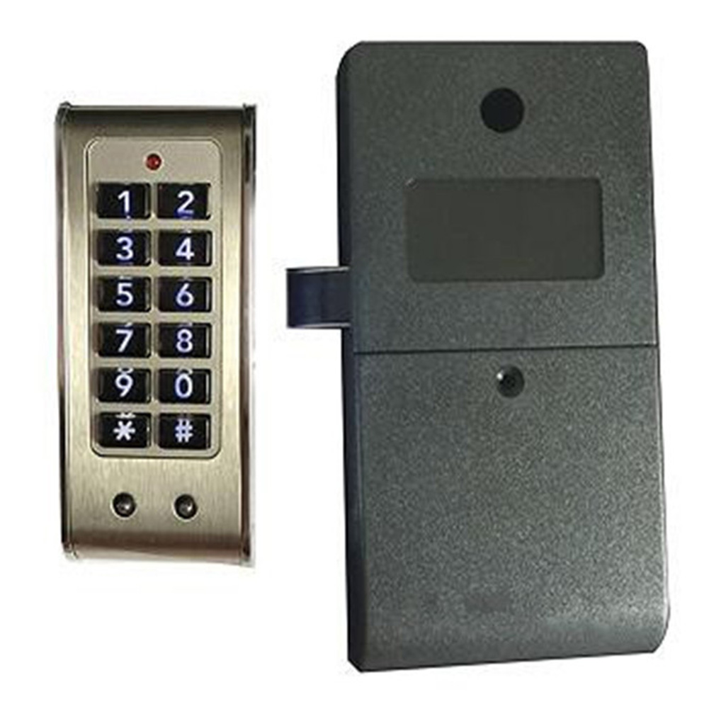Image 2 - Домашняя дверь, противоугонная клавиатура, пароль, замок для шкафа, ящик, безопасность, Цифровая Электрическая защита, офисные шкафы, нержавеющая стальЭлектрический замок    АлиЭкспресс