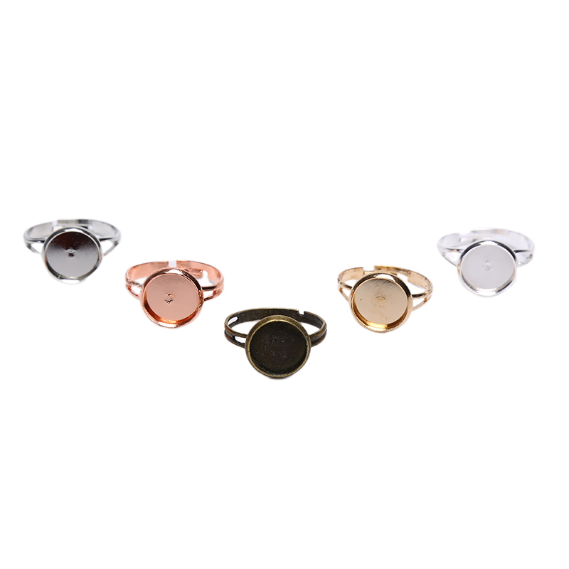 10pcs Blank Ring Base Adjustable Cabochons Cameo Setting For DIY Ring Jewelry Making Findings Accessories