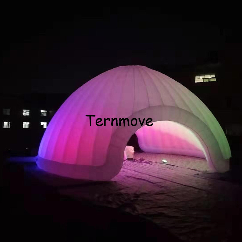 LED light inflatable igloo dome tent for sale  party tent  LED photo booth dome inflatable lawn tent party wedding event|Toy Tents| |  - title=