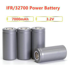 1pc/lot Vbatty 32650 7000mah 3.2V rechargeable lifepo4 battery with flat top for Backup Power flashlight 32700