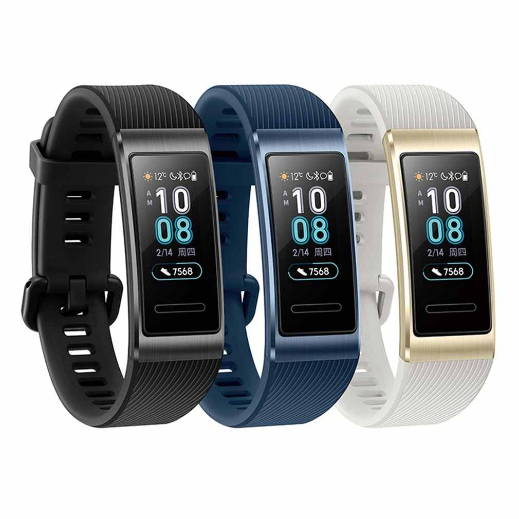 Untuk Huawei Band 3 Pro Built-In GPS Smart Watch AMOLED Layar Sentuh 50 M Tahan Air Gelang Watch